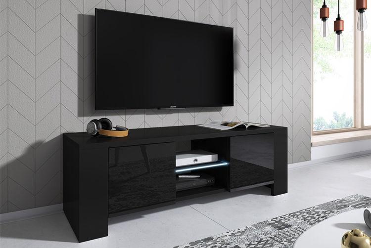 Ecom International Lux High Gloss LED TV Cabinet  ...