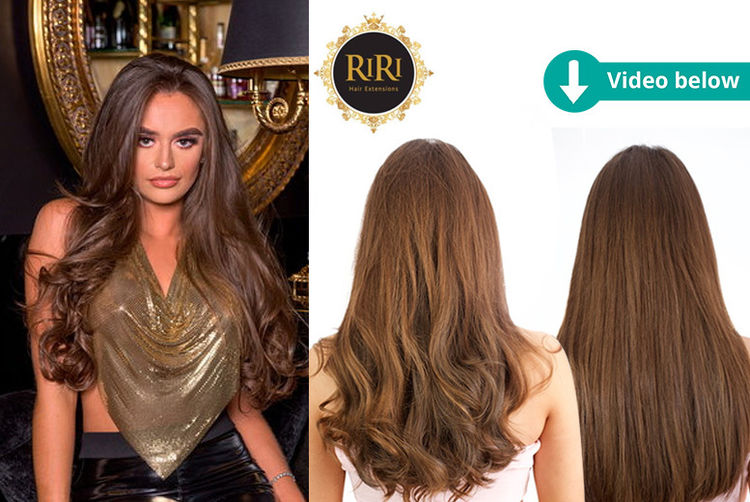 2 Packs Of Hair Extensions Curly Straight In 10 Colours Shop