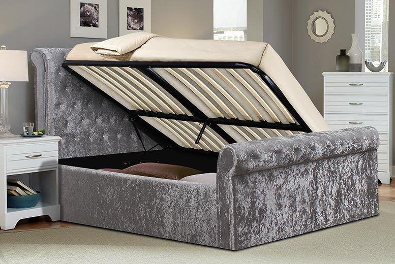 innovative design b034f f7f8f Crushed Velvet Ottoman Bed & Mattress | Shop | Wowcher