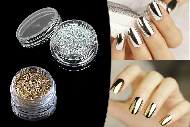 Magic Mirror Nail Powder - Gold or Silver! | Shop | Wowcher