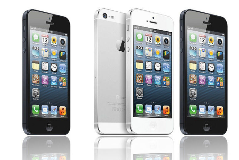 1e9936933f60a4 ... Two silver iPhones facing front to back and two black iPhones facing  front ways ...