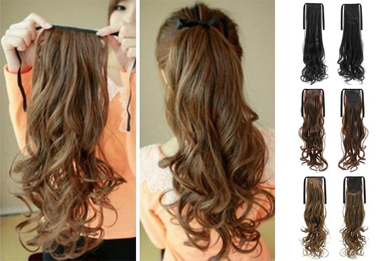 16in Ponytail Clip In Hair Extension Shop Wowcher
