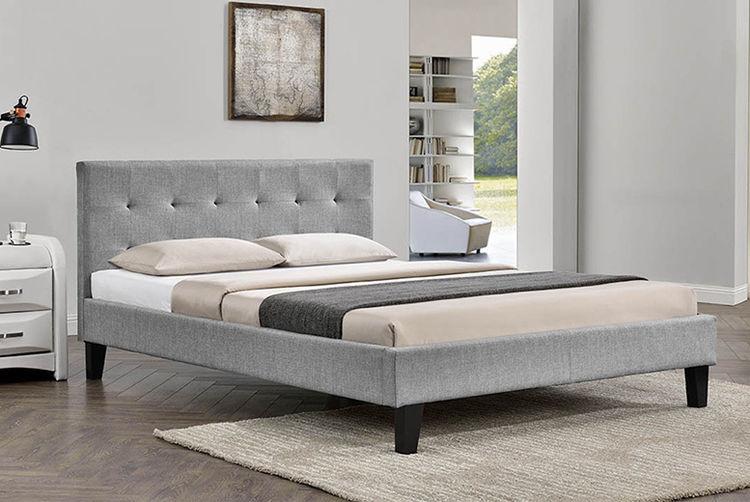 Blenheim Grey Fabric Bed Frame 3 Sizes Shop Wowcher