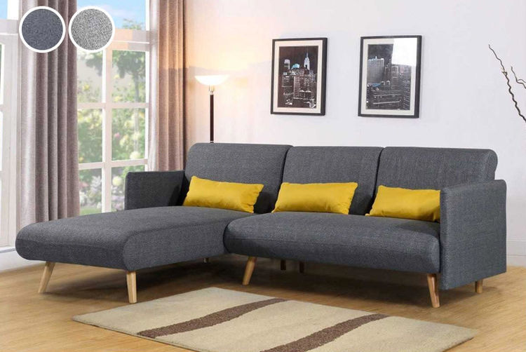 Pleasing Los Angeles Charcoal Grey Sofa Bed Chaise Plymouth Ocoug Best Dining Table And Chair Ideas Images Ocougorg