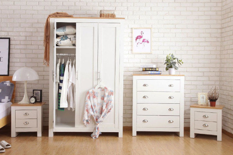 3pc or 4pc Bedroom Furniture Set - 2 Colours!