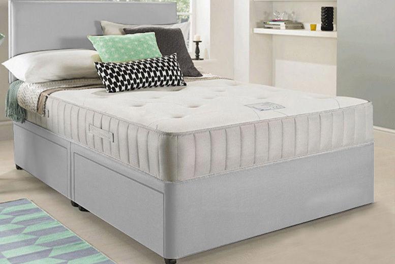 9956228fe560 Divan Bed with Headboard, Mattress & Storage | Shop | Wowcher