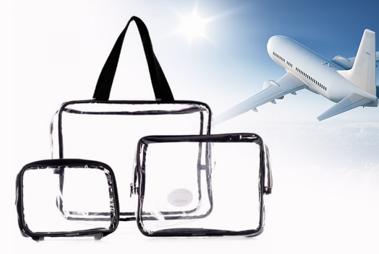 08cc5b0cf00e £5.99 instead of £14.99 (from LaRoc Cosmetics) for a three-piece clear  cosmetic bags set - save 60%