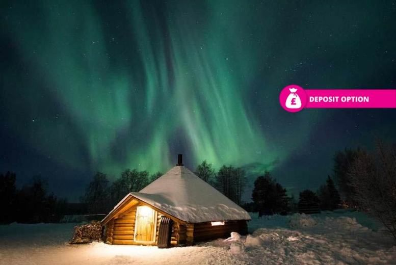 ... Arctic SnowHotel & Glass Igloos, Lapland, Finland - Igloo Northern Lights ...
