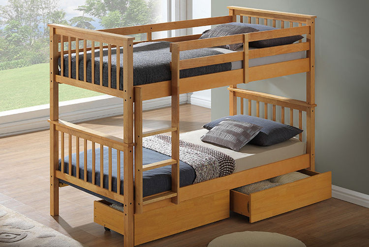 Kids Beech Bunk Bed Shop Wowcher