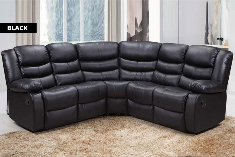 Leather Recliner Corner Sofa | Shop | LivingSocial