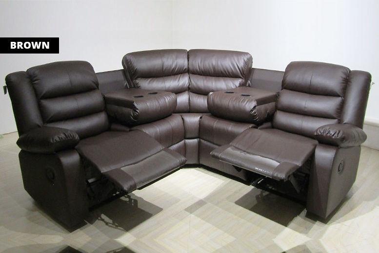 Leather Recliner Corner Sofa   Sofas & Futons deals in ...