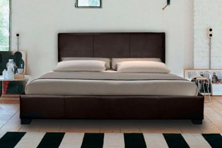 Mona Faux Leather Bed with Optional Mattresses - 4 Sizes!