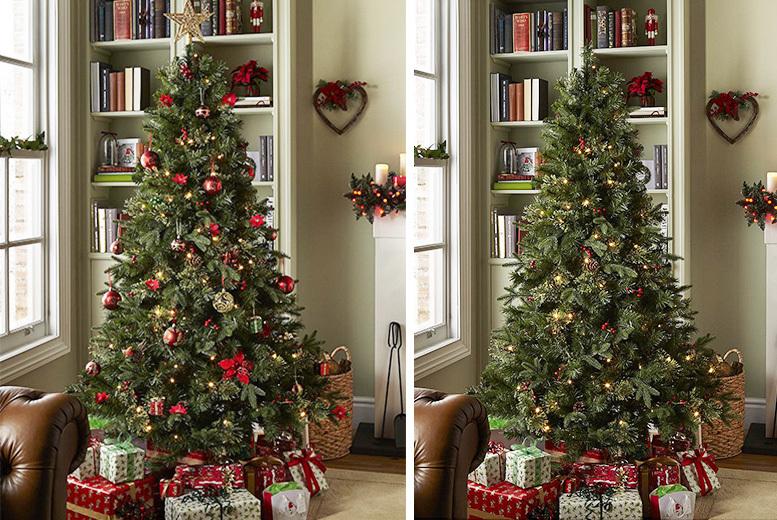 6 5ft Pre Lit Artificial Regency Christmas Tree W Led Lights