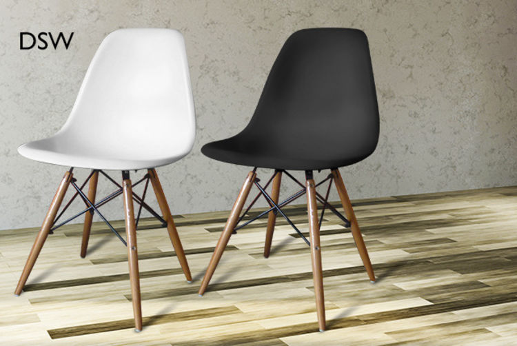 £39 For An Eames Style DSW Chair Or £76 For 2, £49 For An Eames Style DAW  Chair Or £96 For 2 From Wowcher Direct