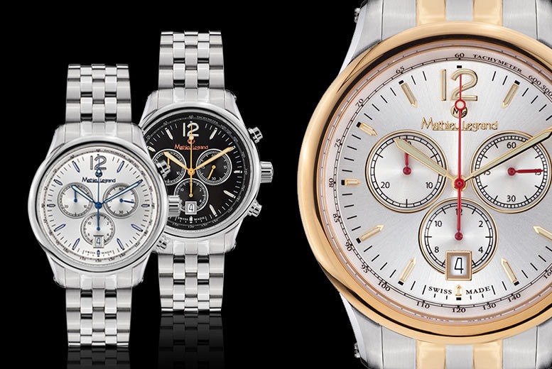 Swiss-Made Mathieu Legrand 'Classique' Watches - 3 Designs!