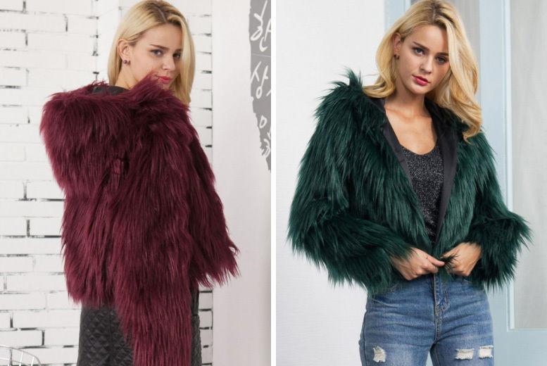 Faux Fur Hooded Winter Coat Shop Wowcher