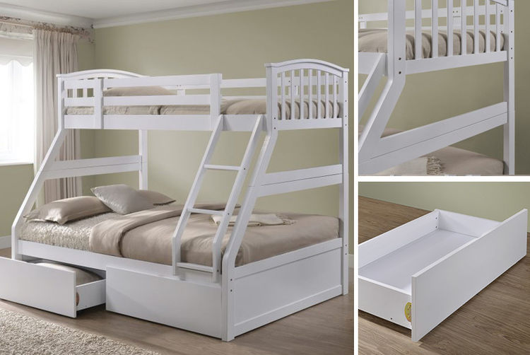 Wooden Triple Sleeper Bunk Bed Shop Wowcher