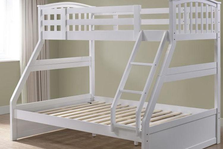 Wooden Triple Sleeper Bunk Bed Beds Mattresses Deals In Shop