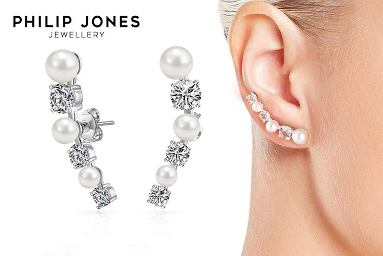 Women's Philip Jones Climber Earrings made with Crystals from Swarovski ®
