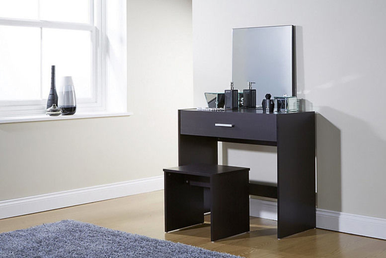 Julia Dressing Table with Stool & Mirror - 3 Colours!