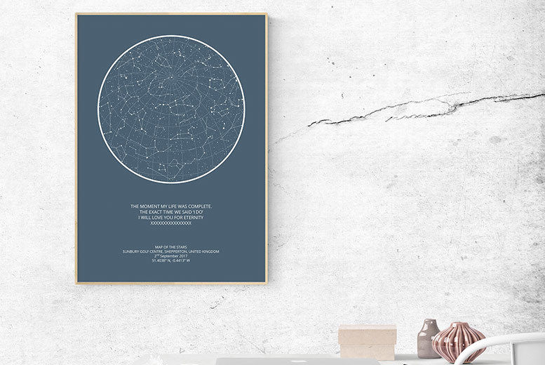 photo relating to Constellation Printable named Customized Night time Sky Print Retail store Wowcher