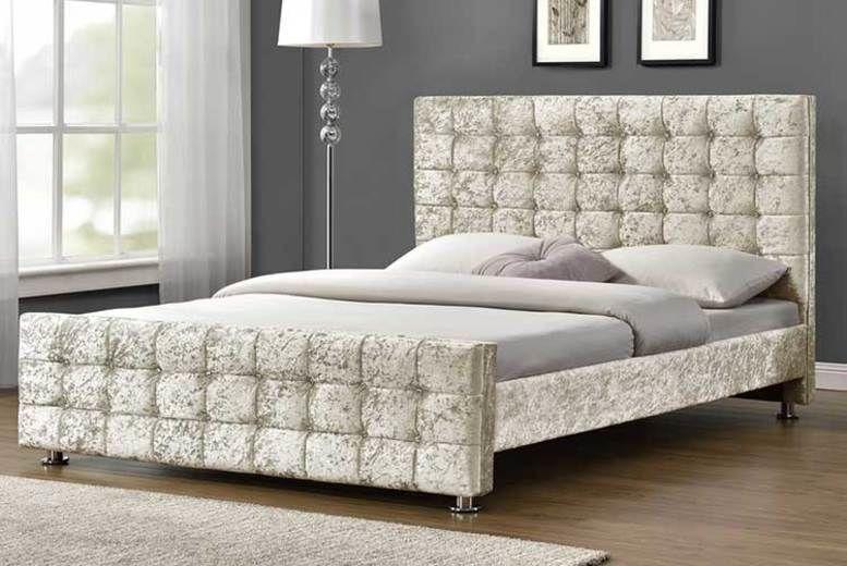 Belmond Velvet Fabric Bed - 8 Options & 7 Colours!