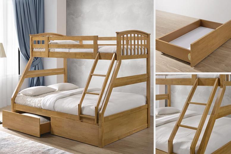 Wooden Triple Sleeper Bunk Bed Shop Wowcher