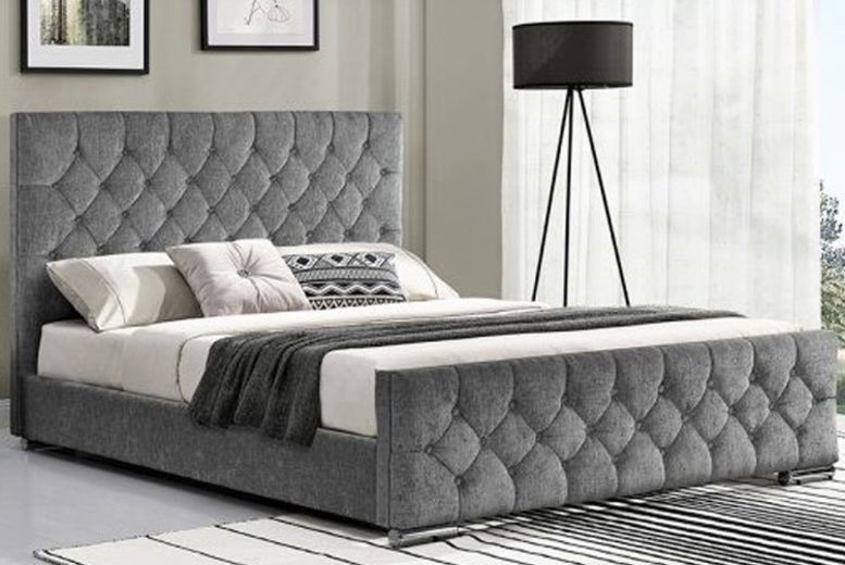Paris Fabric Bed with Upholstered Frame - 7 Colours & 8 Options!
