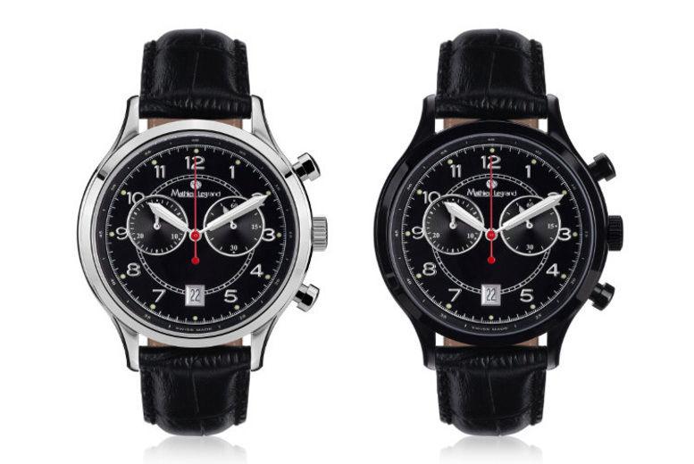 Men's Mathieu Legrand 'Orbite Polaire' Leather Watch - 4 Designs!