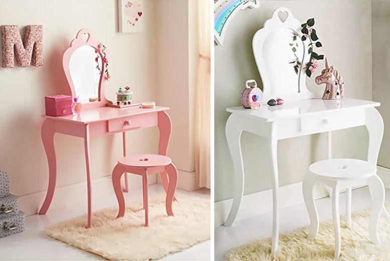 Amelia Kids' Dressing Table Set – 2 Colours!